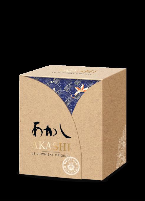 Coffret Akashi Meïsei + 2 Verres en Porcelaine