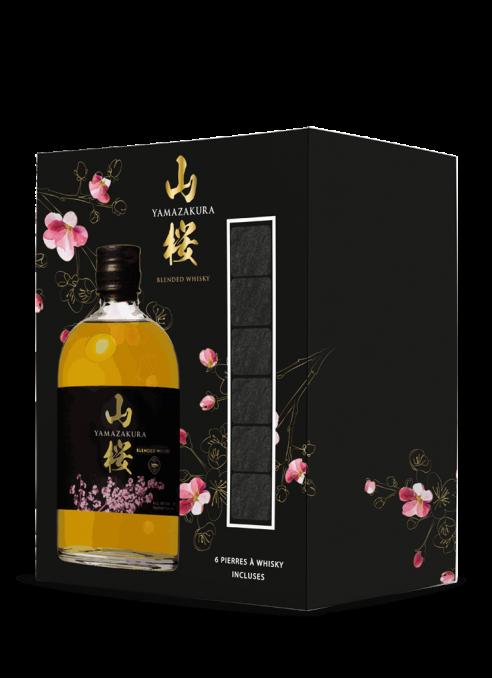 Coffret Yamazakura+ 6 pierres à whisky