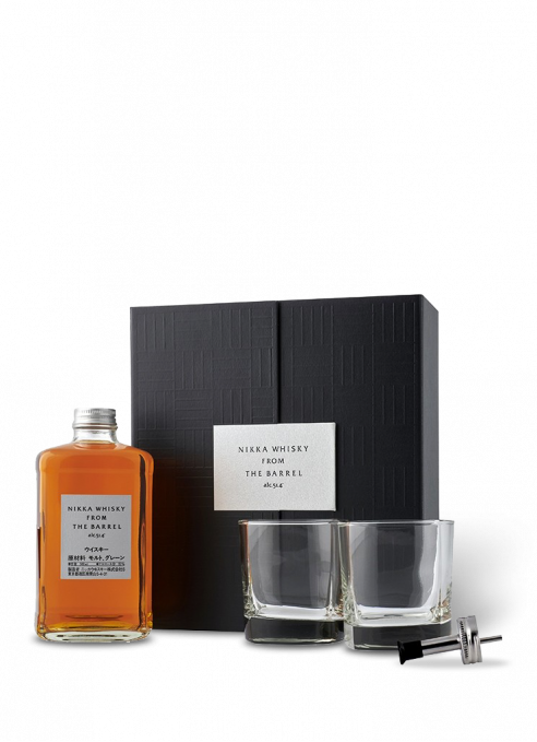 Giftbox Nikka From The Barrel + 2 shot glasses & pouring spout